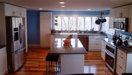 "Homeowners in this 2013 Northeast Regional CotY Award-Winning project in Residential Kitchen Under $40,000 category used ""sweat equity"" as a way to keep costs down, by handling the demolition phase of their remodel."