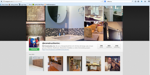RJK Construction highlighted their office remodel via Instagram.